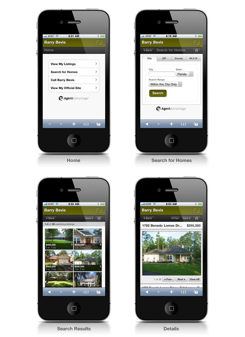 Mobile Website Templates for AgentAdvantage